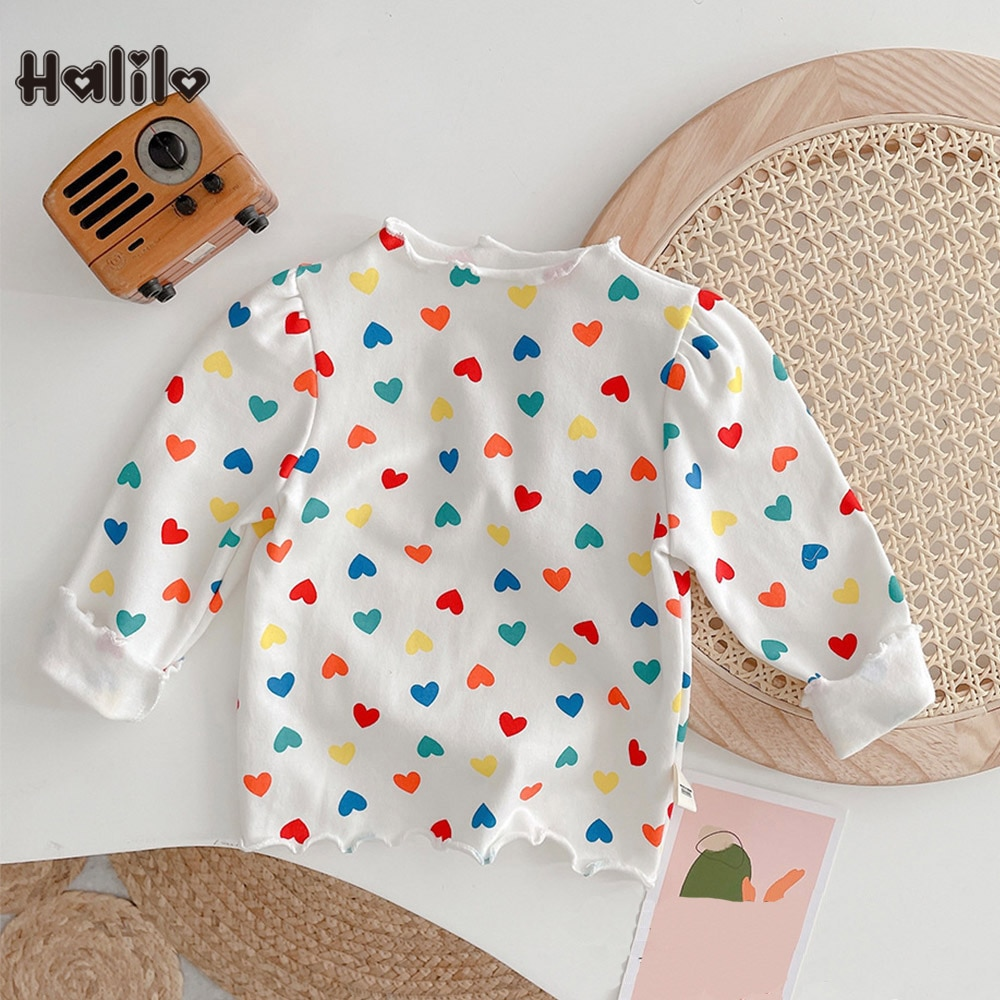 camiseta de manga longa de algodao halilo camiseta da moda para meninas com estampa