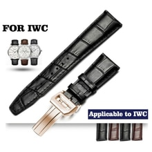 Leather Strap 22mm Men's Waterproof Suitable for IWC Watch Strap Portuguese 7 Leather Strap Portugue