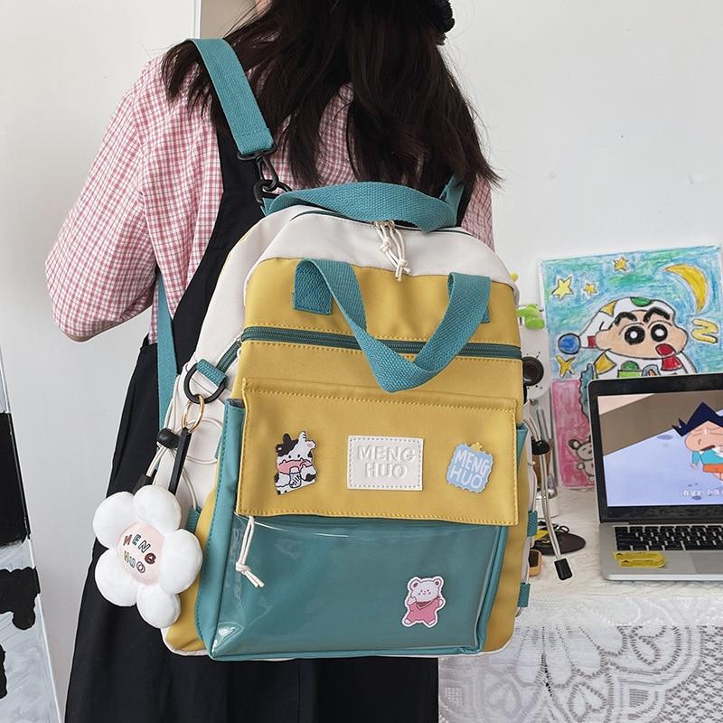 Милые мини-рюкзаки в Корейском стиле, женские водонепроницаемые нейлоновые маленькие сумки на плечо для девочек-подростков, школьные сумки...