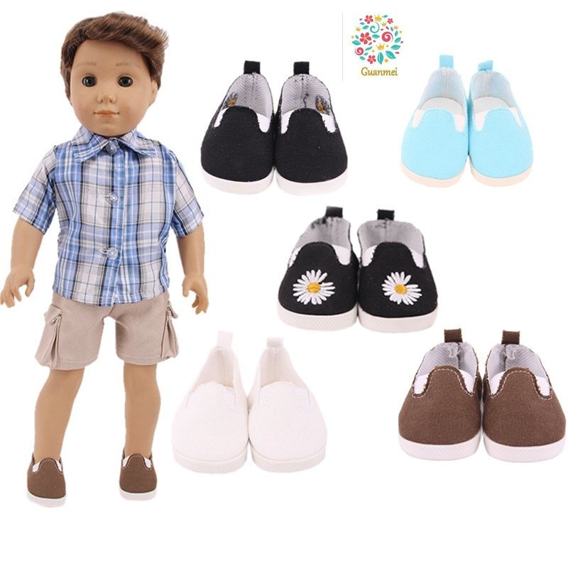 Fit 17 inch 43cm Born New Baby Doll Shoes Accessories Colorful  Color Thread Shoes For Baby Birthday Gift недорого