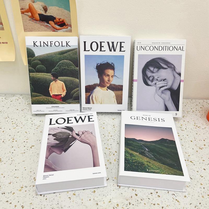 Модные поддельные книги Ins для украшения, модель магазина, имитация магазина, модель одежды, магазин кофейни, Шоурум, домашний декор
