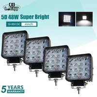 co light 5d 4inch 48w square led work light driving led beams high power drl for lada 4x4 offroad atv truck tractor boat 12v 24v