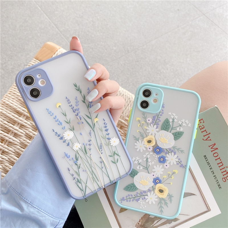 Camera Lens Protection Flower Phone Case For OPPO A9 A5 A31 2020 A3S A5S A52 A72 A92 Realme 5 C15 C1