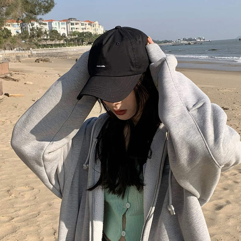 Hat Female Online Influencer Korean Style Versatile Face-Looking Small Baseball Summer Casual Soft T