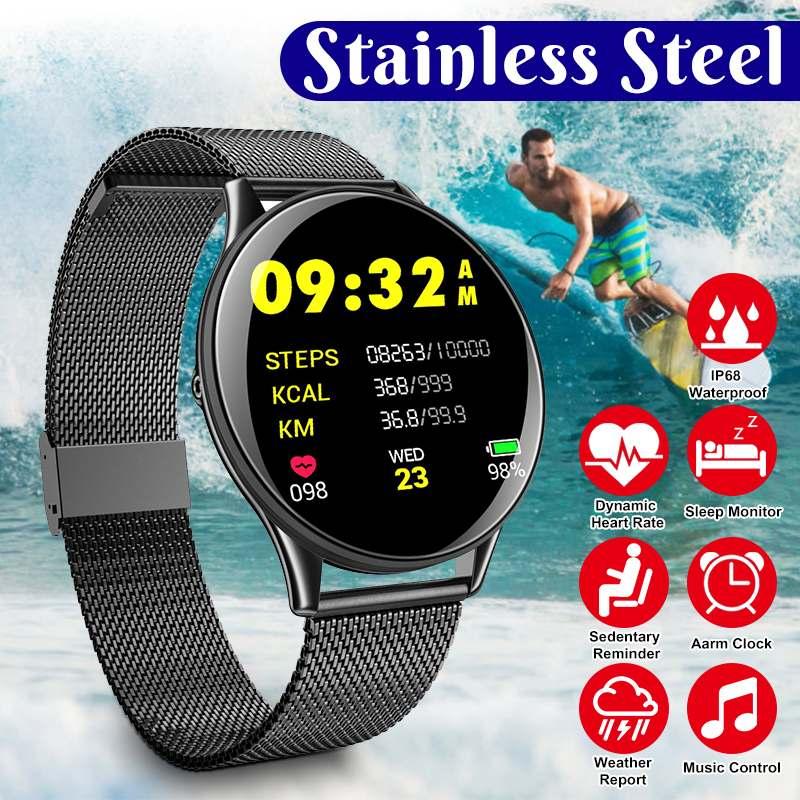 Reloj inteligente con pantalla táctil de 1,3 pulgadas, Monitor de ritmo cardíaco y presión arterial, Smartwatch IP67, GPS, pulsera de seguimiento de Fitness