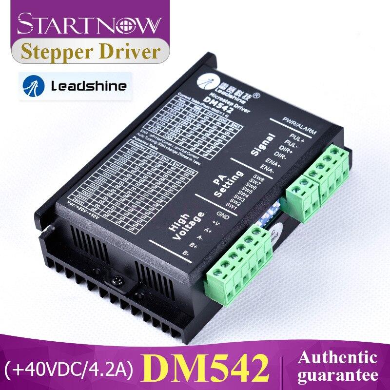 Motorista deslizante análogo dm542 de leadshine 2 fases para a máquina de corte do co2
