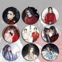 Tian Guan Ci Fu Frauen Brosche Anime Schmuck Xie Lian Hua Cheng Abzeichen Emaille Paare Trendy Nette Cartoon Metall Broschen broches