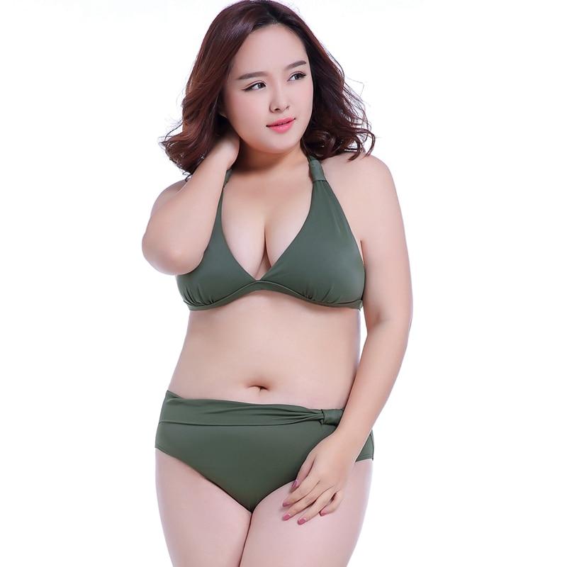 Traje de baño para mujeres gordas 2019 verano Swimuit Super 7XL trajes de baño grandes sujetadores E F G H Push Up Sexy Bikini talla grande 2XL