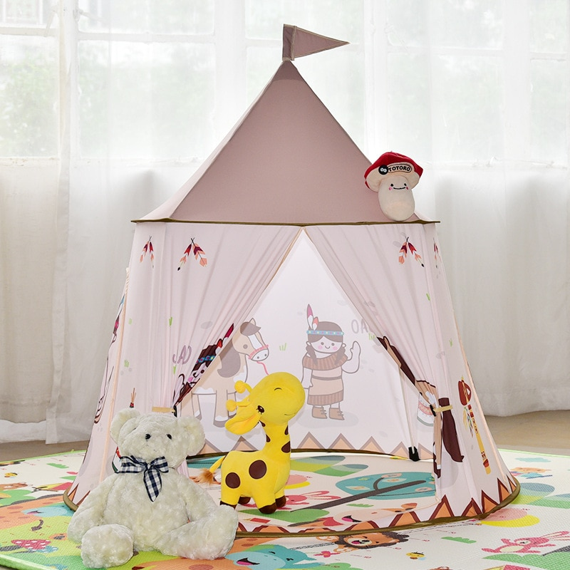 Children's Tent Toy House Baby Indian Ocean Ball Pool Indoor Game Room Tent Teepee Tent for Kids Play House