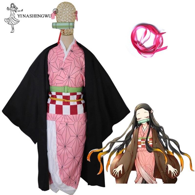 Anime demonio cazadora para hombre y mujer Cosplay traje Kimetsu no Yaiba Kamado Tanjirou Kamado Nezuko Agatsuma Zenitsu ropa