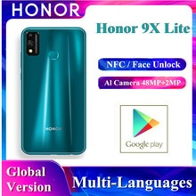 Huawei Original Honor 9x Lite Smartphone Version mondiale Kirin 710 NFC paiement 4GB + 128GB 48MP double caméra téléphone portable