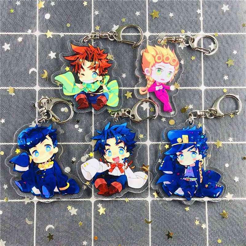 Anime chaveiro jojo aventura bizarra acrílico chaveiro cosplay acessórios acessórios chaveiro jóias pingente