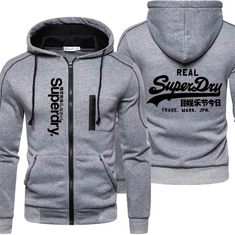AliExpress - Brand Male Hooded Jackets Casual Jackets Zipper Sweatshirts Male Tracksuit Sports Jacket Fashion Men Outerwear