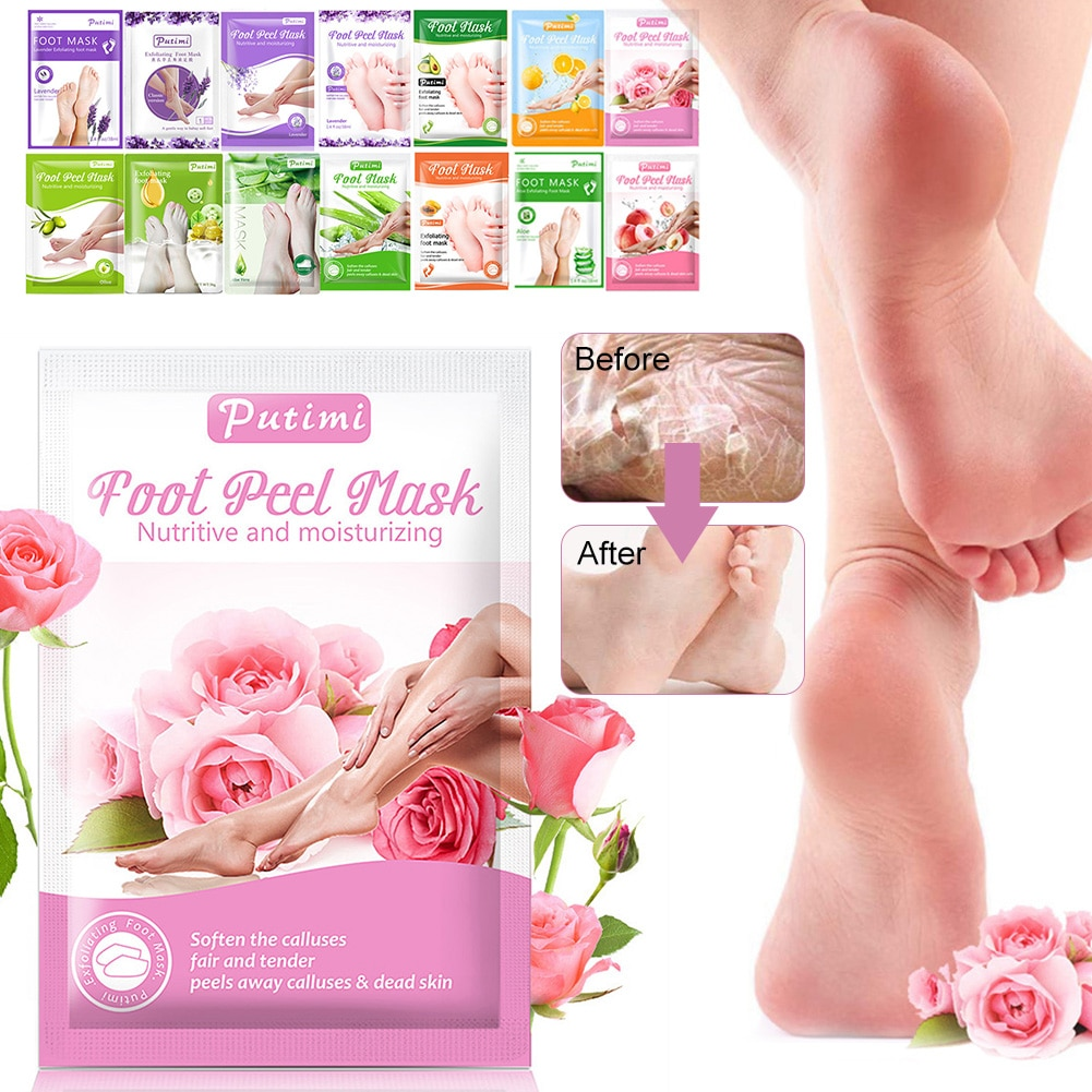 Exfoliating Foot Masks Foot Spa Pedicure Socks Peel Mask Foot Care Whitening Anti Cracked Heel Peeli