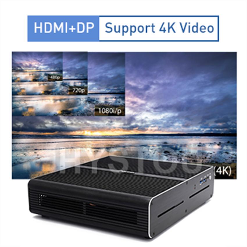 Gaming Mini PC Intel Core i7 7920HQ NVIDIA GeForce GTX1650 4gb 2*DDR4 Game Computer Desktop Windows 10 4K HDMI DP DVI 3 Display