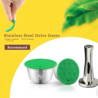 ICafilasStainless מתכת Rusable עבור דולצ 'ה גוסטו כמוסה fit נסקפה עם מסנן ues 200 זמן קפה קרקע לחבל קפה כפית