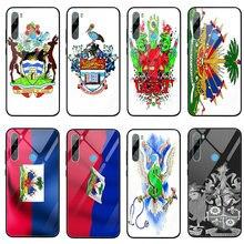 Étuis de téléphone portable en verre trempé pour Xiaomi Redmi Note 4 4X 5A 5S 6X 7 7A 8 8A 9 SE A1 A2 Lite Plus sacs blason haïti