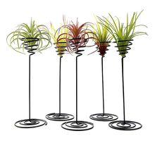 2020 nuevo hierro negro creativo aire piña Base planta maceta titular de Rack balcón hogar jardín decoración suministros paisaje