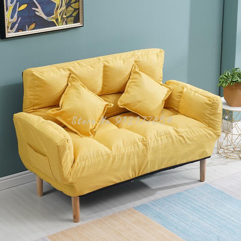 Ленивый диван-татами для двойной маленькой квартиры, спальни, балкона, маленький диван-сетка, красный, простой складной диван-кровать