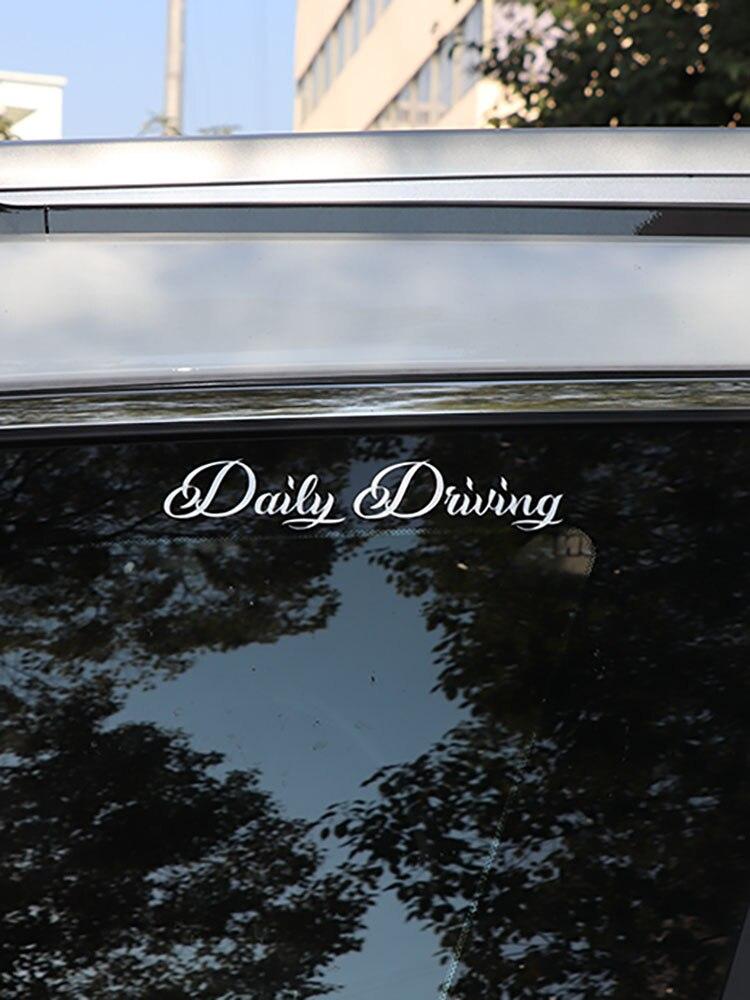 ZTTZDY 15CM*3CM Daily Driving Vinyl Fashion Reflective Car Sticker Decals ZJ2-0027