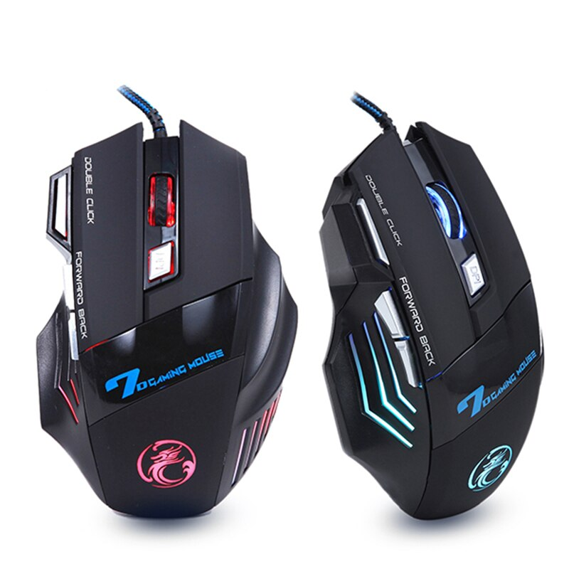 Ergonomic Wired Gaming Mouse LED 5500 DPI USB Computer Mouse Gamer RGB Mice X7 Silent Mause With Backlight Cable For PC Laptop