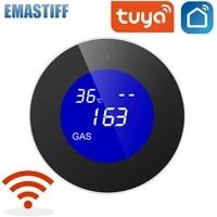 Capteur de fuite de gaz  Tuya WiFi gpl  ecran LCD  alarme de securite incendie  controle par application  securite domestique intelligente  surveillance de la temperature