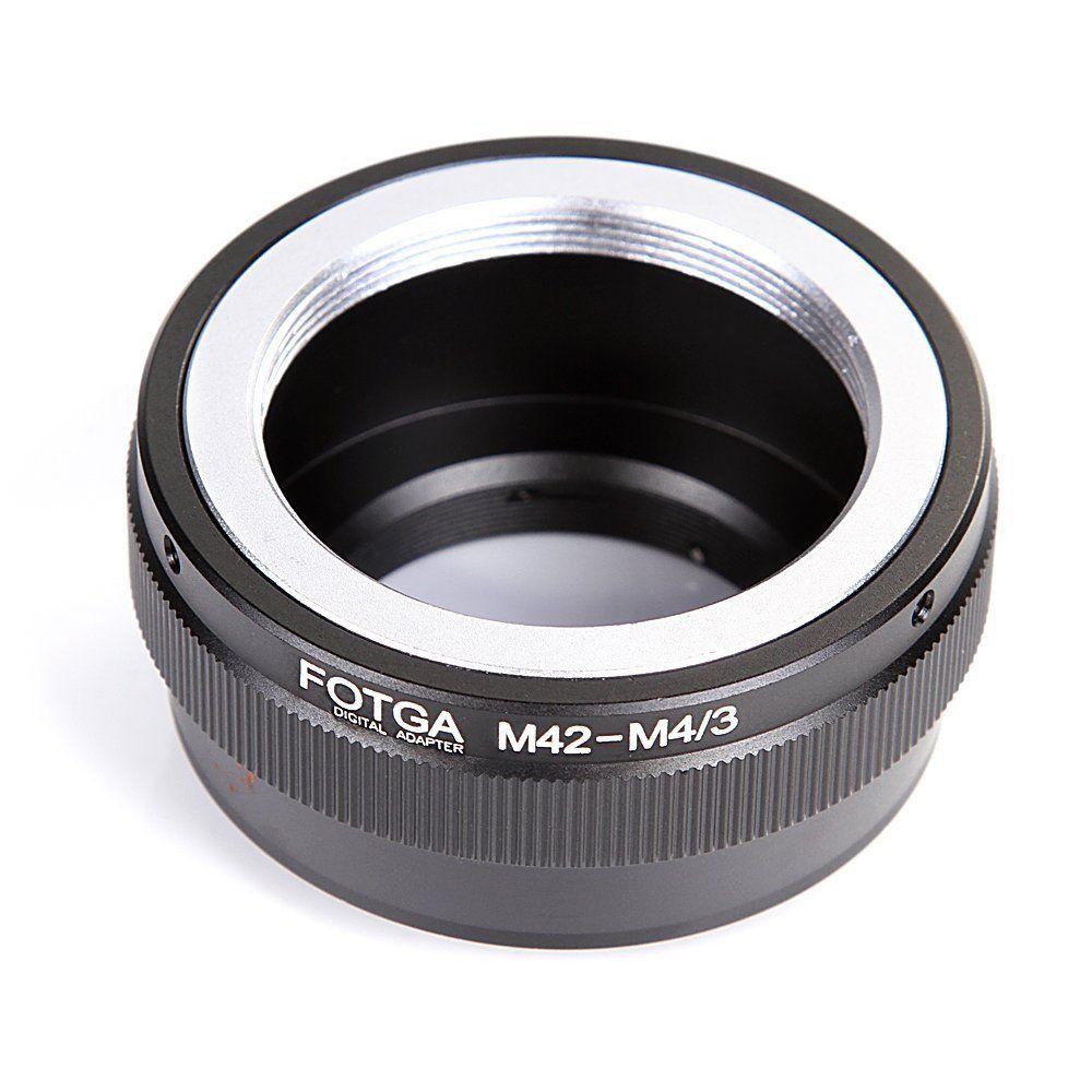 Anillo adaptador de Metal Fotga para objetivo M42, para montaje Micro 4/3 para cámara DSLR Olympus Panasonic