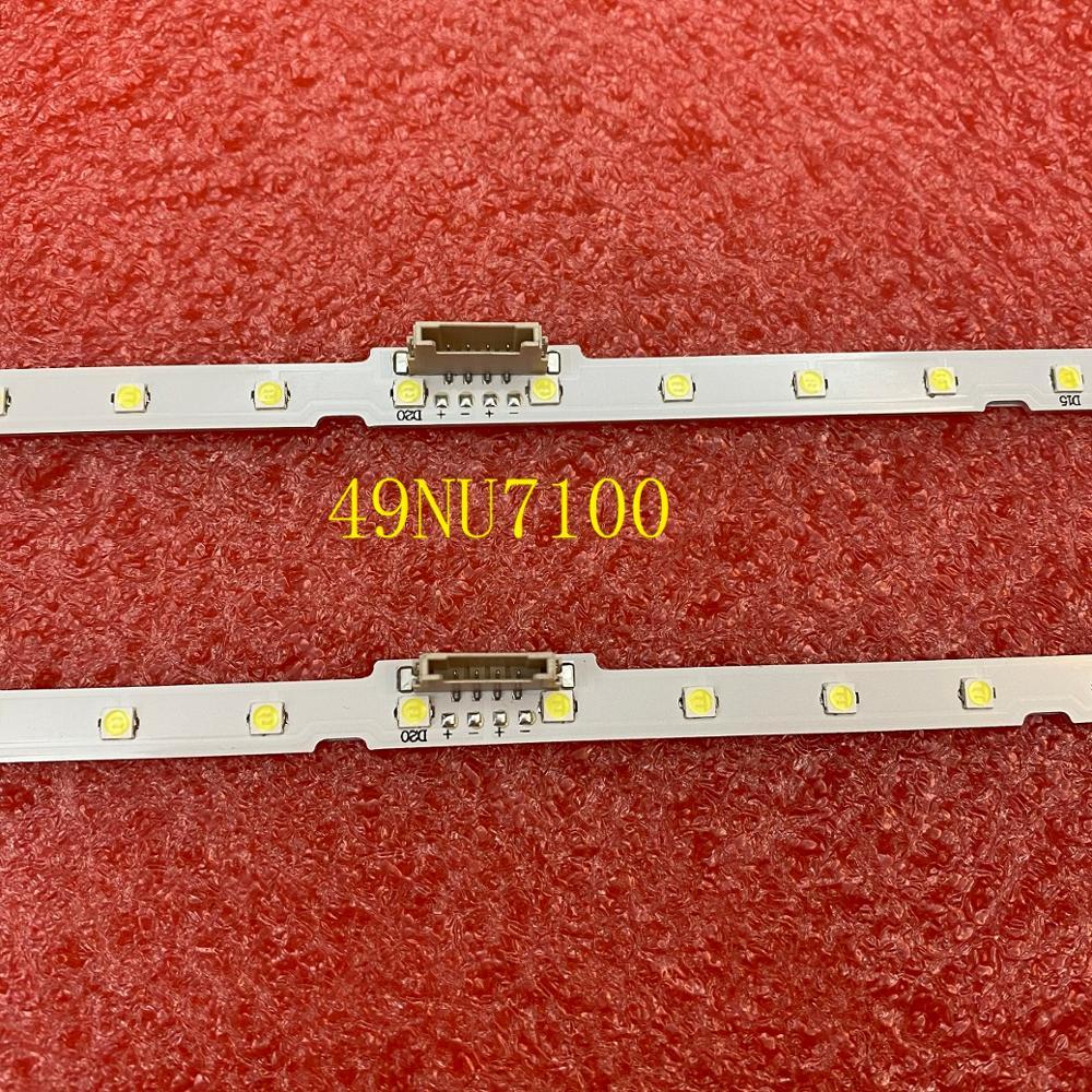 Светодиодная лента для подсветки (2) для Samsung 49NU7100, UN49NU7100, UE49NU7100, UN49NU7100AG, UN49NU7100G, UN49NU7300, UE49NU7300U, UE49NU7170U