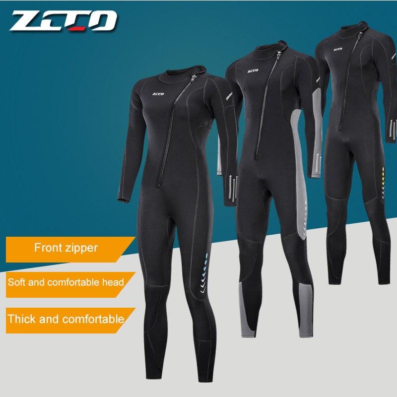 ZCCO 3MM neoprene Wetsuit for Men & women Scuba diving suit deep spearfishing thermal swimsuit Snorkeling Surfing one piece set