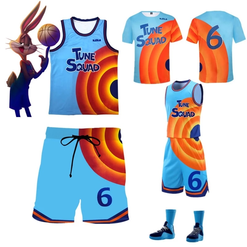 Movie Space Jam 2 Jersey James 2021 #6 Cosplay Costume Tune Squad Shirt Vest Shorts Summer Trendy Le