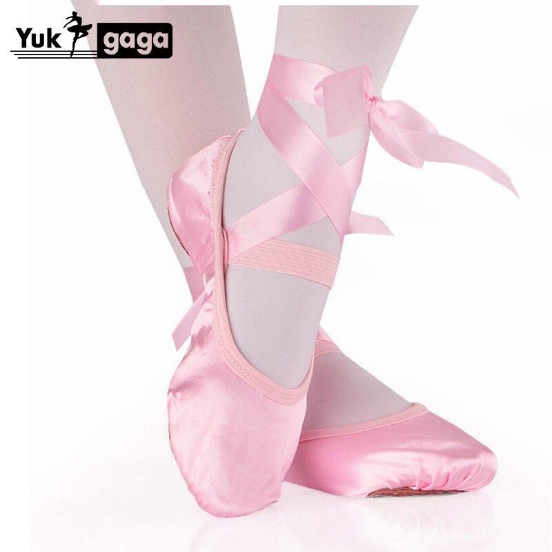 A4d1 comemore meninas e senhoras adultas bailarina profissional sapatos de ballet sapatos de dança com fita sapatos femininos