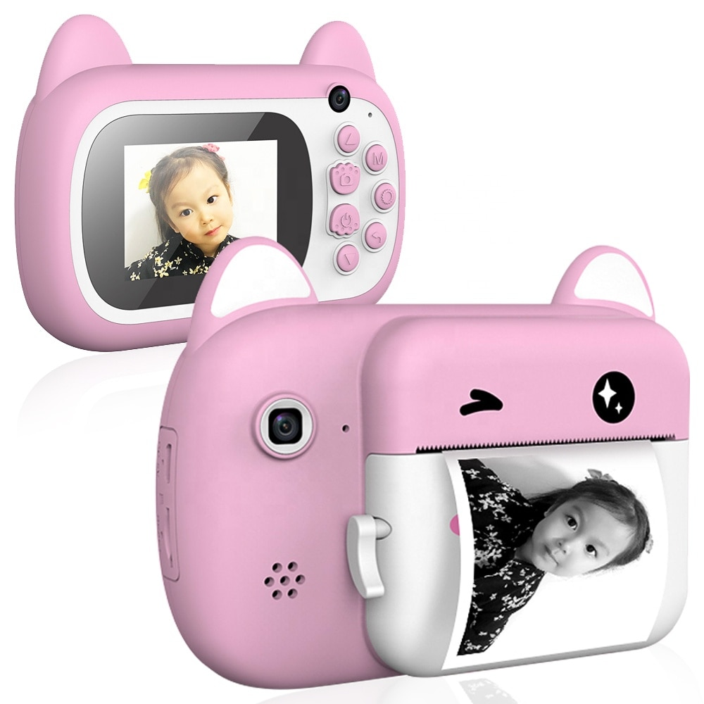 Child Instant Print Camera Instant Print Camera 2.4 LCD Screen Toy Gifts Komery Digital Camera Photo Video Recorder
