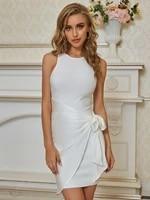 babatique 2021 sexy sleeveless white women bandage dress ladies elegant casual bodycon party dress vestidos