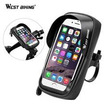 West Fietsen Bike Rack Waterdichte Fiets Mobiele Telefoon Houder Stand Motorfiets Stuur Mount Tas Voor Iphone Samsung Telefoon Mount