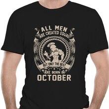 Balance tous les hommes sont créés égaux mais seuls les meilleurs sont nés en octobre hommes t-shirt fête t-shirt 2681X