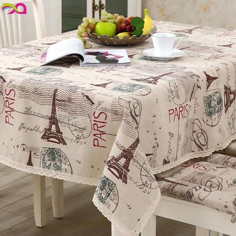 Toalha de mesa pano de mesa paris torre eiffel algodão capa de linho linho toalha de mesa pano