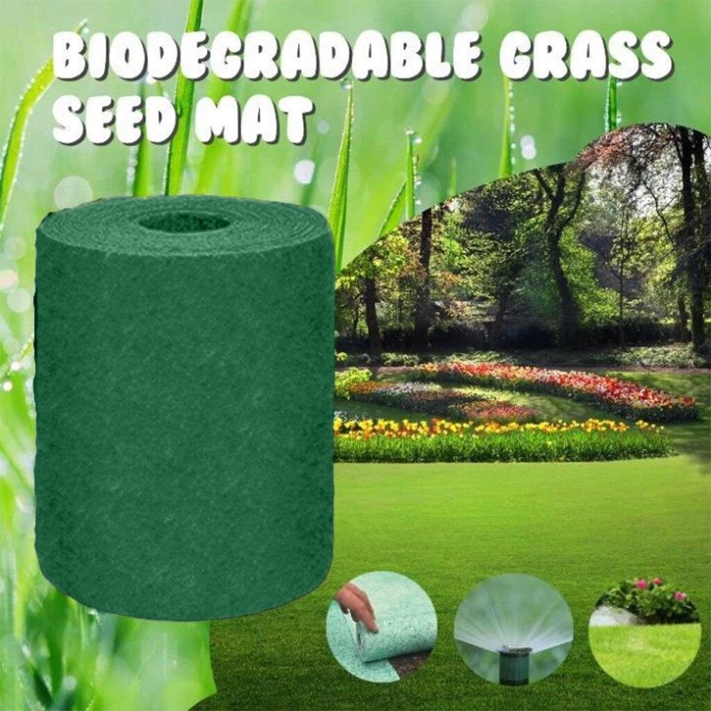 20 × 1000cm estera de semillas de hierba Biodegradable cojín manta ecológica fertilizante jardín Picnic jardinería césped estera de plantación