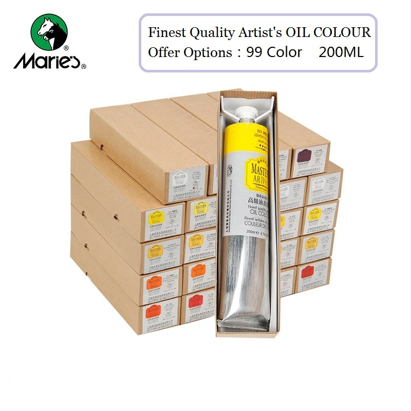 Marie's 200ml Master Artist Professional Oil Paints Tube 99 Color Paint Tool Painting Art Supplies Artist Student Adult Products