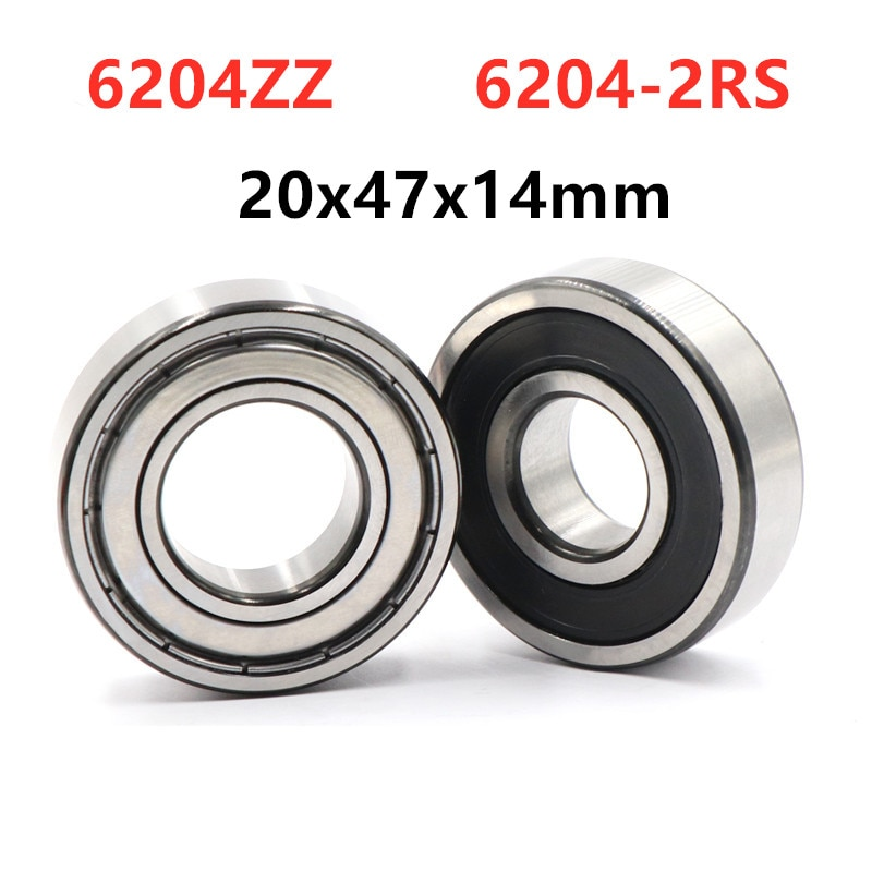 10 pçs/lote 6204ZZ 6204-2RS 20*47*14 blindado deep groove ball bearing 6204 milímetros-2Z 6204RS rolamentos 20x47x14