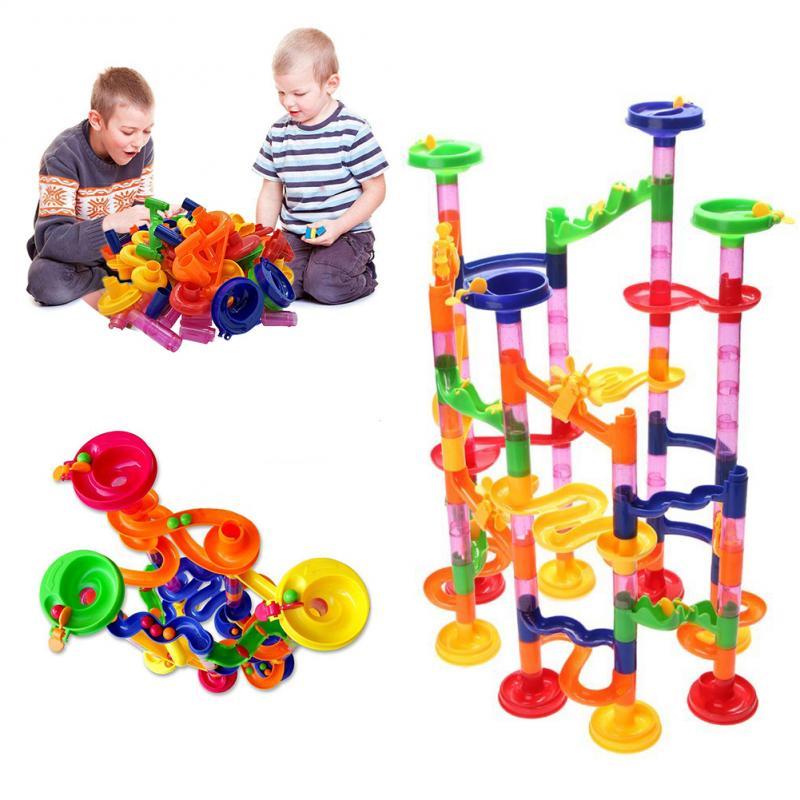 105/109PCS Set DIY Construction Marble Race Run Track Building Blocks Toys Christmas Gift For Kids Children Educational Toys