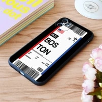 for iphone boston boarding pass flight ticket print soft matt apple iphone case 6 7 8 11 12 plus pro x xr xs max se