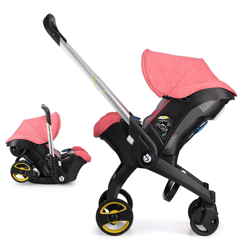 Luxury Baby Stroller 4 in 1 TTrolley Newborn Baby Car Seat Stroller Travel Pram Stoller Baby Bassinet Pushchair Carriage Basket