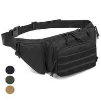Tactical Waist Bag Gun Holster Military Fanny Pack Sling Shoulder Bag Outdoor Chest Assult Pack Concealed Gun Carry Holster