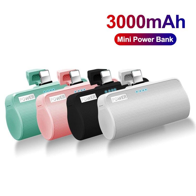 3000mAh باور بانك صغير ل iPhone12 شاومي بطارية خارجية Powerbank شاحن قوي المحمولة Poverbank لسامسونج
