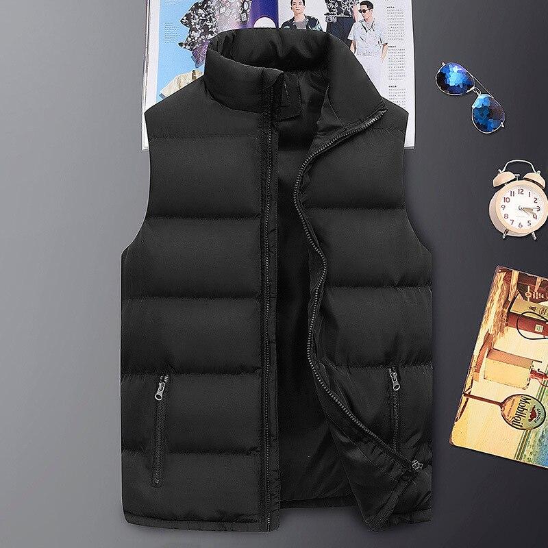 Модная мужская куртка, жилет без рукавов, весенние теплые жилеты, повседневные пальто, мужской хлопковый жилет, мужской утепленный жилет, ку...