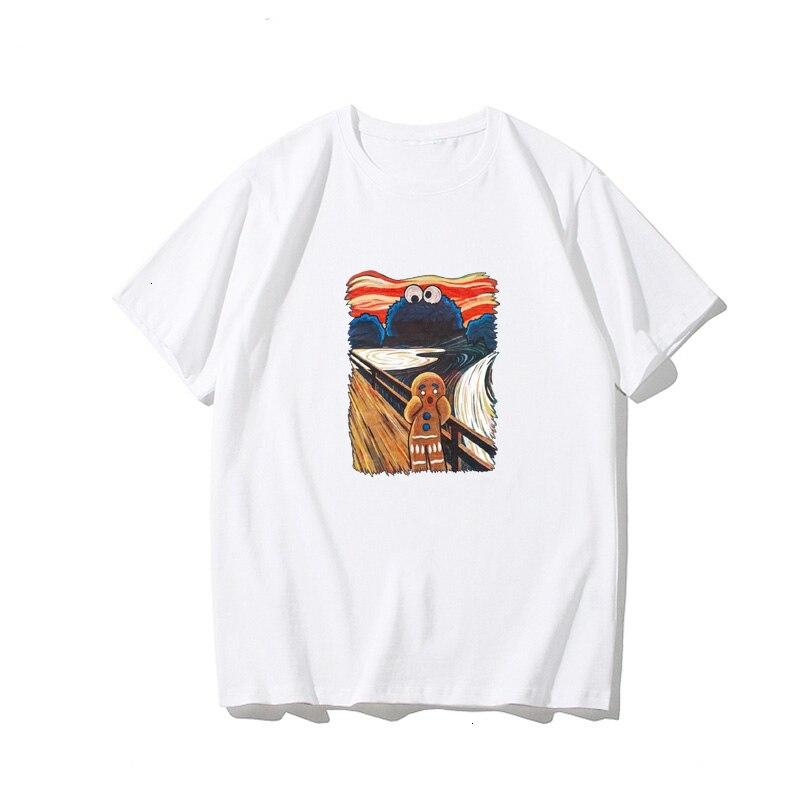 Ulzzang camiseta feminina estilo coreano do punk tumblr kawaii gótico do vintage harajuku algodão manga curta mais tamanho t-shirt superior roupas