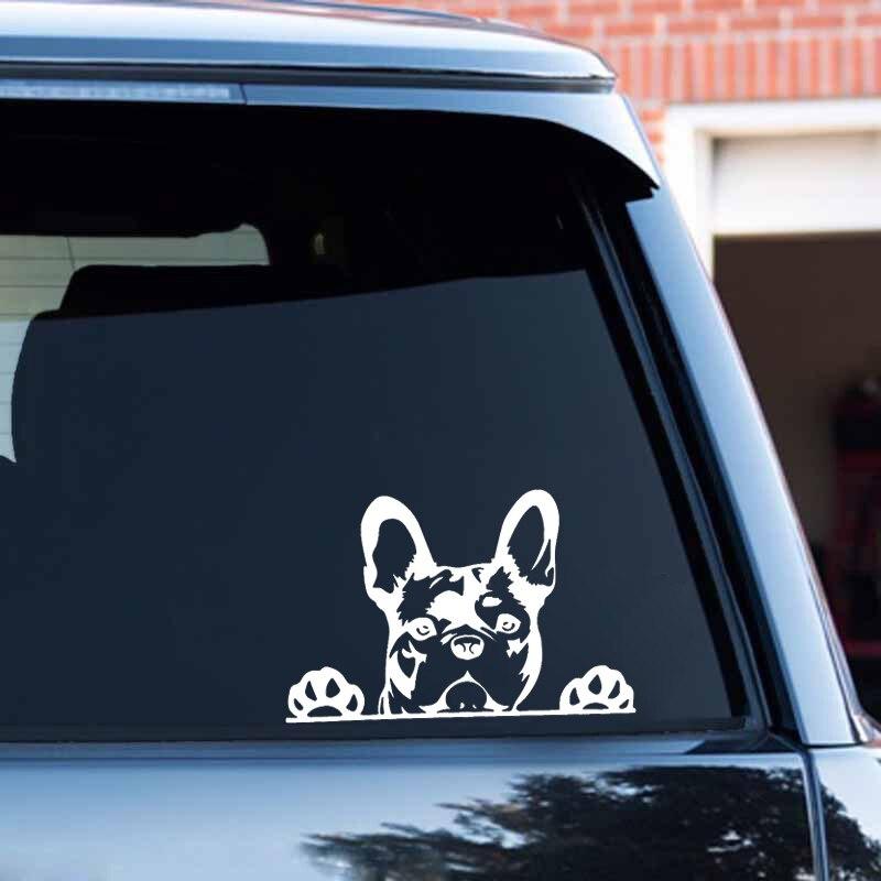 Pegatina para el coche, pegatina de vinilo reflectante a láser 3D para el coche, Bulldog francés, Bulldog, Bulldog francés, Bulldog Bully, decoración para el coche