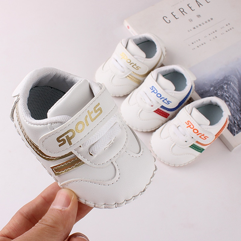 Infant Shoes Spring Hand-Stitched Soft-Soled Baby Toddler Shoes White Shoes Newborn Wear-Resistant Non-Slip Shoes Birthday