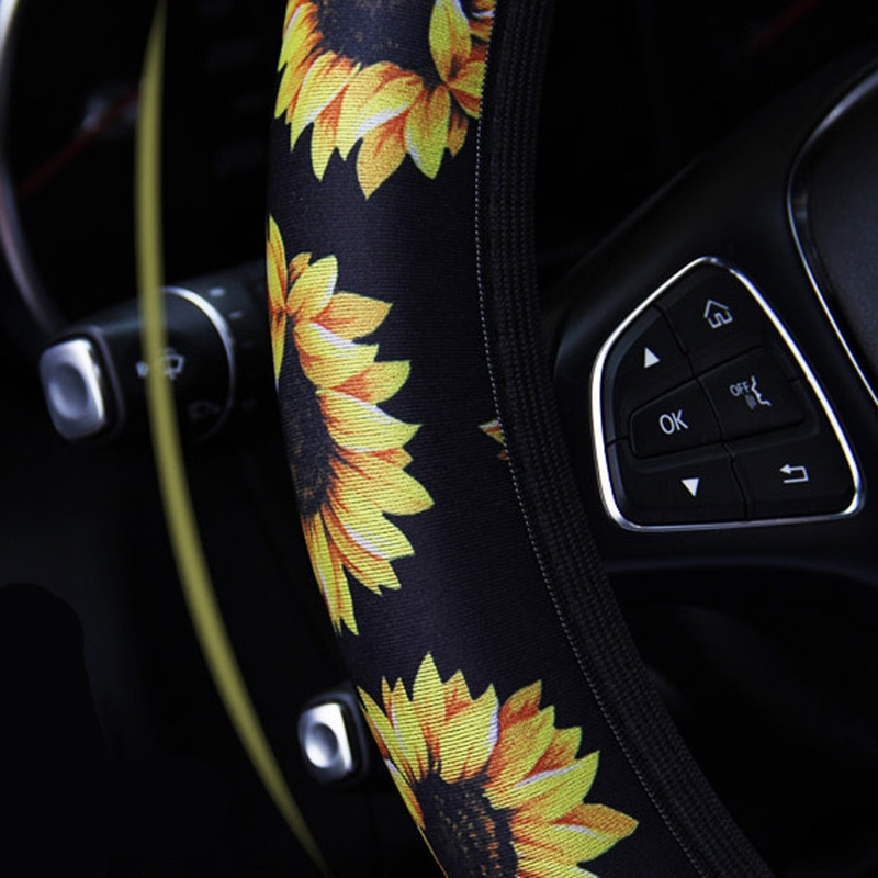 Universal Anti-skid Sunflower Car Steering Wheel Cover Steering Wheel Protection
