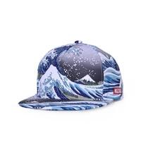 ukiyo e style caps 3d printing baseball cap for men women couple hat double layer bone snapback